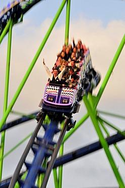 Roller coaster, Octoberfest, Munich, Bavaria, Germany, Europe