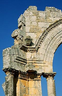Detail of the Simeons-Cloister near Deir Tazza, Syria, Middle East, Orient