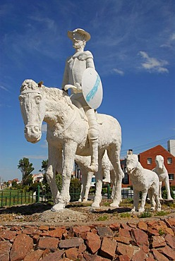 Monument for Don Quixote, Don Quijote de la Mancha and Sancho Panza, Puerto Madryn, Chubut Province, Patagonia, Argentina, South America