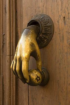 Doorknocker, historic town of San Miguel de Allende, Province of Guanajuato, Mexico
