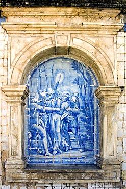 Sao Francisco Church, Azulejos, painted tile, Joao Pessoa City, Paraiba, Brazil, South America