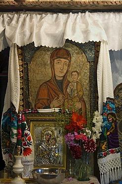 Icon, Wood Church of the Holy Paraskeva, Unesco World Heritage Site, Desesti, Maramuresch, Romania