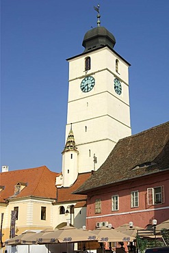 Old Council Tower, Sibiu, Transylvania, Romania