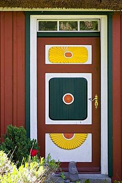 Front door in Born, Fischland-Darss, Mecklenburg-Western Pomerania, Germany, Europe