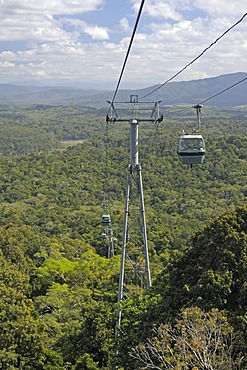 Skyrail Rainforest Cableway, at 7.5km the longest cable car in the world, Kuranda, Queensland, Australia