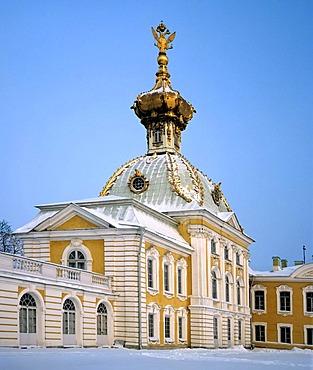 Peterhof castle church, St. Petersburg, North-West Russia
