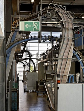 Print of Stadtanzeiger magazine on Cortina printing machine by Koenig & Bauer at Badische Zeitung printing press, Freiburg im Breisgau, Baden-Wuerttemberg, Germany, Europe