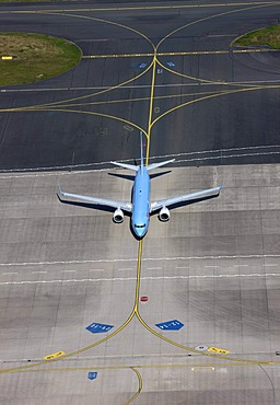 TUIfly Boeing 737-500 on the apron, Muenster-Osnabrueck Airport, North Rhine-Westphalia, Germany, Europe