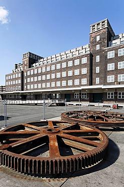 Central depot of the Rhine Industrial Museum, Peter-Behrens Building, Neue Mitte Oberhausen, Ruhr Area, North Rhine-Westphalia, Germany, Europe