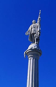 Columbus column, historic city centre, San Juan, Puerto Rico, Caribbean