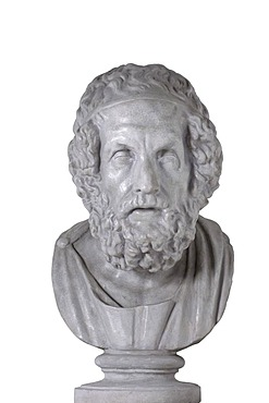 Bust of Homer, Greek archetypos, about 50 BC
