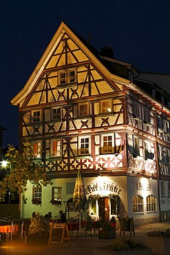 Ratstube in Meiningen, Rhoen, Thuringia, Gerrmany, Europe