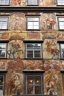 Painted House in Herrengasse alley, Graz, Styria, Austria, Europe