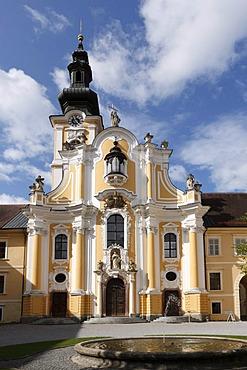Stiftskirche, Collegiate church, courtyard of the Cistercian monastery, Rein Abbey, Styria, Austria, Europe