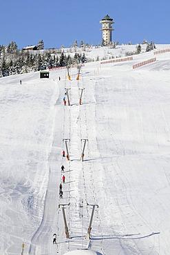 Ski lift on Feldberg in the Black Forest, Baden-Wuerttemberg, Germany, Europe