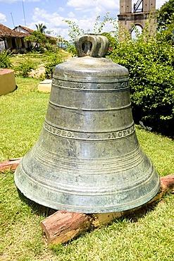 Iznaga tower bell in the Valle de los Ingenios, Sancti-Spiritus province, Cuba, Latin America