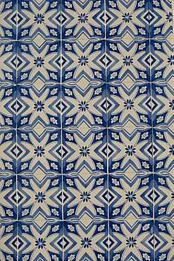 Ceramic tile structure of a typical facade at Ribeira Quay, Porto, UNESCO World Cultural Heritage Site, Portugal, Europe
