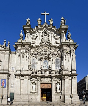 Igreja da Ordem Terceira de Nossa Senhora do Carmo Church on Placa Carlos Alberto, Porto, UNESCO World Cultural Heritage Site, Portugal, Europe