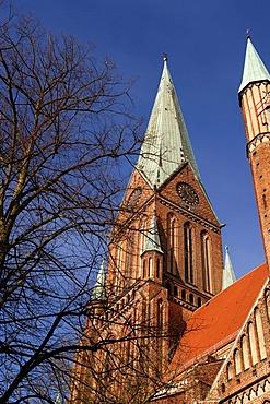 Schwerin Cathedral, Schwerin, Mecklenburg Western-Pomerania, Germany, Europe