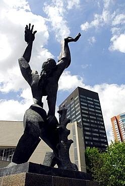 De Verwoeste Stad, the devastated city, Monument of Zadkine, Churchillplein, Rotterdam, South Holland, the Netherlands, Europe