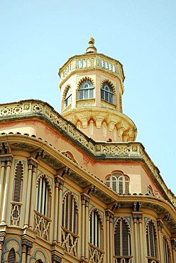 Can Corbella House from approx. 1900, facade contains both Art Nouveau and Neo-Moorish elements, historic city centre, Ciutat Antiga, Palma de Mallorca, Majorca, Balearic Islands, Spain, Europe