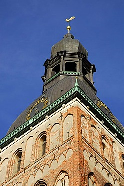 Steeple of the Cathedral, Doma baznica, in the historic town centre, Vecriga, Riga, Latvia, Baltic states, Northeastern Europe