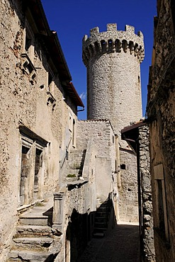 Fortified tower, San Stefano di Sessanio, Abruzzo, Italy, Europe