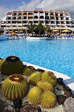 Swimming pool, Parque Santiago, Las Americas, Tenerife, Canary Islands, Spain, Europe