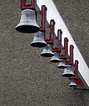 Bells of Arka Pana Church, Lord's Ark, Kosciol p.w. Matki Bozej Krolowej Polski in the Bienczyce district of Krakow, Cracow, Poland, Europe