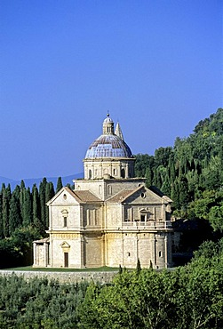 Madonna di San Biagio pilgrims church, Montepulciano, province of Siena, Tuscany, Italy, Europe
