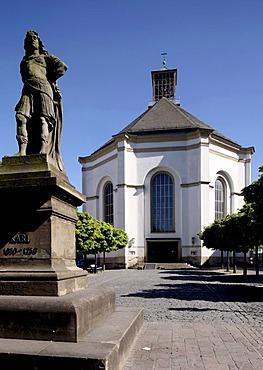 Karl's Church and Karl's Memorial Statue, Kassel, Hesse, Germany, Europe