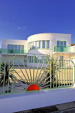 An Art Deco house at Frinton, Essex, England, Great Britain, Europe