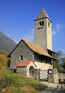 Saint Prokulus Church in Naturns, South Tirol, Italy, Europe
