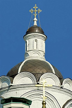 Cupola of the Russian Orthodox church in Kolomenskoye village near Moscow, Russia