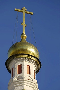 Golden dome of the Russian Orthodox Kazan cathedral, Red Square, Moscow, Russia