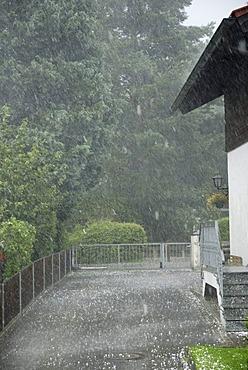 Hail, storm, 11.8.2008, Nicklheim, Bavaria, Germany, Europe