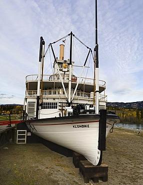 Historic Yukon River Steam Ship S.S. Klondike, sternwheeler, Whitehorse, Yukon Territory, Canada, North America