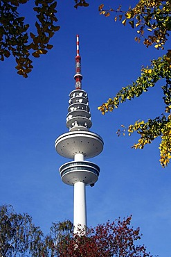 Tele-Michel, the Hamburg telecommunications or television tower, also called the Heinrich-Hertz-Turm, Hamburg, Germany, Europe