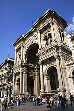 Galleria Vittorio Emanuele II in Milan, Lombardy, Italy, Europe
