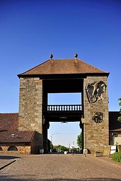 Deutsches Weintor or German Wine Gate, Schweigen-Rechtenbach, Naturpark Pfaelzerwald Nature Park, Rhineland-Palatinate, Germany, Europe