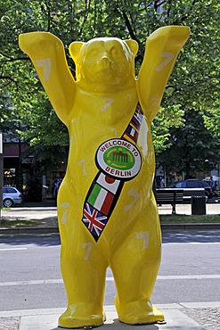 Buddy Bear, WELCOME TO BERLIN, United Buddy Bears, Berlin, Germany, Europe