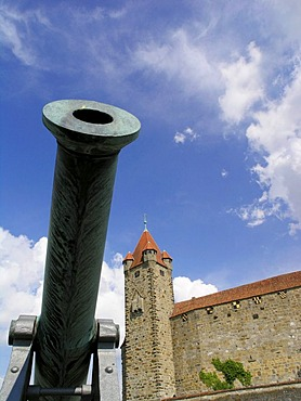 Canon, Veste Coburg Citadel, Franconia, Germany, Europe