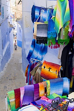Carpet shop in Chefchaouen, Marocco, Africa