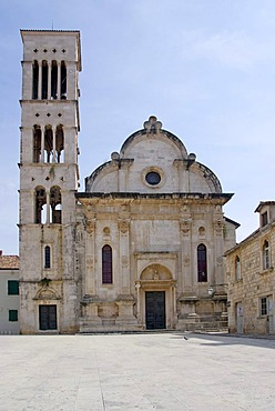 Sveti Stjepan Church at the main square in Hvar, Dalmatia, Croatia, Europe