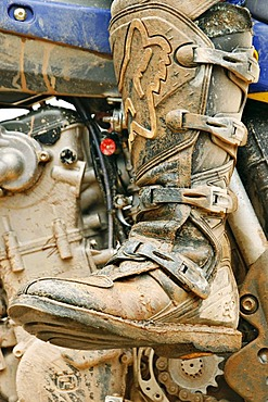 Dirty one boots of Motocross