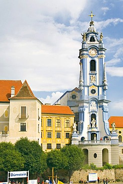 Baroque church in Durnstein in the Wachau