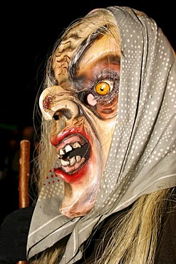 Witch wood mask