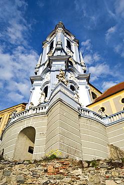 Baroque church in Duernstein, Wachau, Waldviertel, Lower Austria, Austria, Europe