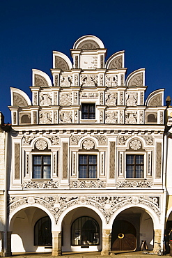 Building in the historic centre of Telc, Czech Republic, Europe