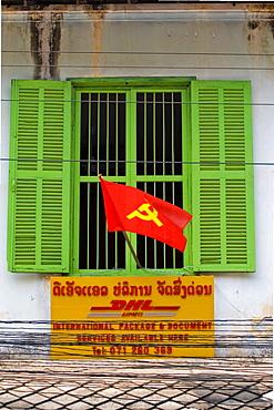 DHL-Station in Luang Prabang, Laos, Asia